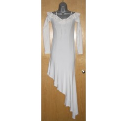 WHITE LONG FLOW DRESS BY PANACHE - SIZE 8-10