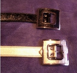 BELT WITH SQUARE BUCKLE IN GOLD OR BLACK