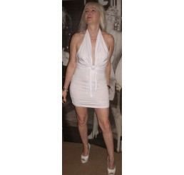 WHITE MINI CLUB DRESS - Size 10-12