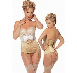GOLD MARILYN BOUDOIR CORSET - SIZES FROM 8 TO 16