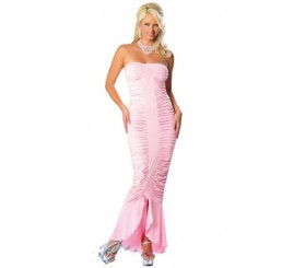 LONG LIGHT PINK DRESS - SIZE 10-14