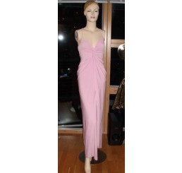LONG STUNNING LIGHT PINK DRESS FROM PANACHE -SIZE 8-10