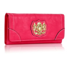 FUCHSIA TWIST LOCK PURSE/WALLET