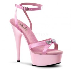 PINK DELIGHT DIAMANTE BOW PLATFORM SHOES - Sizes 4,5,6