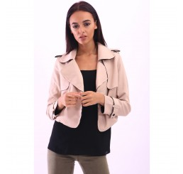 Trim Detailing Smart Jacket in Beige